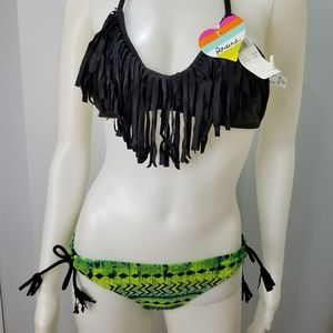 Raisins Women Swimsuit Size S 2Pc Halter Top